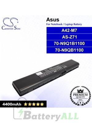 CS-AUM7NB For Asus Laptop Battery Model 70-N9Q1B1100 / 70-N9QB1100 / A42-M7 / AS-Z71