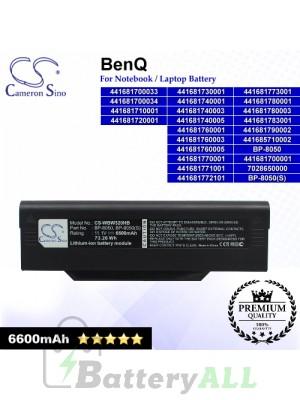 CS-WBW320HB For BenQ Laptop Battery Model 441681700001 / 441681700033 / 441681700034 / 441681710001