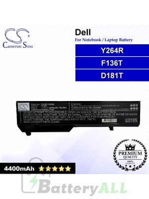 CS-DE1320NB For Dell Laptop Battery Model D181T / F136T / Y264R