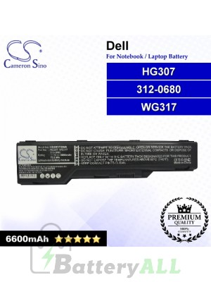 CS-DE1730NB For Dell Laptop Battery Model 312-0680 / HG307 / WG317