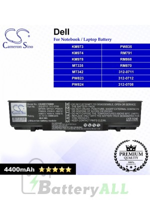 CS-DE1735NB For Dell Laptop Battery Model 312-0708 / 312-0711 / 312-0712 / KM973 / KM974 / KM978 / MT335