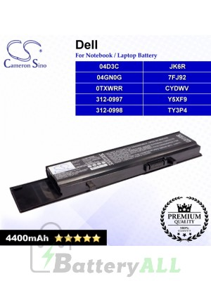 CS-DE3400NB For Dell Laptop Battery Model 04D3C / 04GN0G / 0TXWRR / 312-0997 / 312-0998 / 7FJ92 / CYDWV