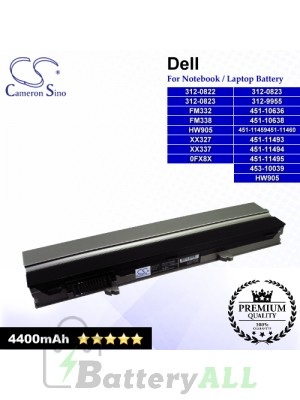 CS-DE4300NB For Dell Laptop Battery Model 0FX8X / 312-0822 / 312-0823 / 312-9955 / 451-10636 / 451-10638