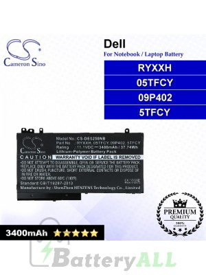 CS-DE5250NB For Dell Laptop Battery Model 05TFCY / 09P402 / 5TFCY / RYXXH