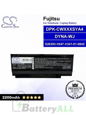 CS-FU1010NB For Fujitsu Laptop Battery Model DPK-CWXXXSYA4 / DYNA-WJ / S26393-V047-V341-01-0842