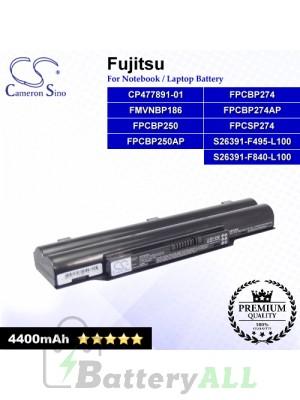 CS-FUH520NB For Fujitsu Laptop Battery Model CP477891-01 / FMVNBP186 / FPCBP250 / FPCBP250AP / FPCBP274
