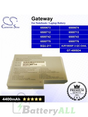 CS-GW400NB For Gateway Laptop Battery Model 4UR18650F-3-QC-OA4L / 6500673 / 6500674 / 6500712 / 6500713