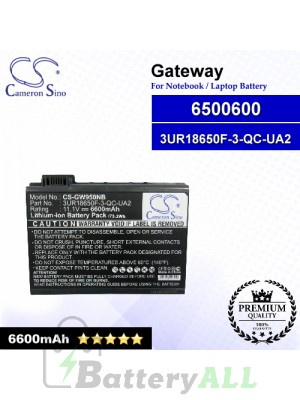 CS-GW950NB For Gateway Laptop Battery Model 3UR18650F-3-QC-UA2 / 6500600