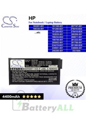 CS-CP1700 For HP Laptop Battery Model 182281-001 / 190336-001 / 191169-001 / 191258-B21 / 191259-B21 / 192835-001