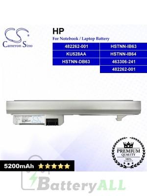 CS-HP2133HB For HP Laptop Battery Model 482262-001 / HSTNN-DB63 / HSTNN-IB63 / HSTNN-IB64 / KU528AA