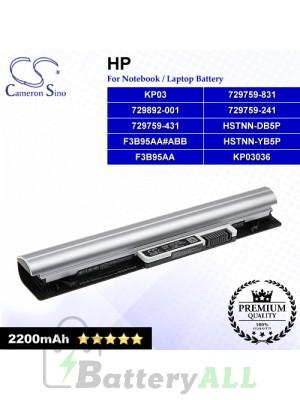 CS-HPE215NB For HP Laptop Battery Model 729759-241 / 729759-431 / 729759-831 / 729892-001 / F3B95AA / F3B95AA#ABB