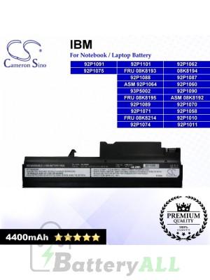 CS-IBT40 For IBM Laptop Battery Model 08K8194 / 92P1010 / 92P1011 / 92P1058 / 92P1060 / 92P1062 / 92P1067