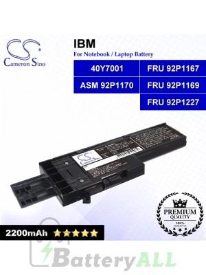 CS-IBX60HL For IBM Laptop Battery Model 40Y7001 / ASM 92P1170 / FRU 92P1167 / FRU 92P1169 / FRU 92P1227