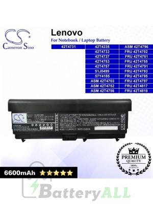 CS-IBT510HB For Lenovo Laptop Battery Model 42T4235 / 42T4708 / 42T4709 / 42T4710 / 42T4712 / 42T4714