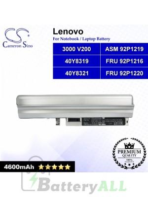 CS-LNV100NB For Lenovo Laptop Battery Model 3000 V200 / 40Y8319 / 40Y8321 / ASM 92P1219 / FRU 92P1216