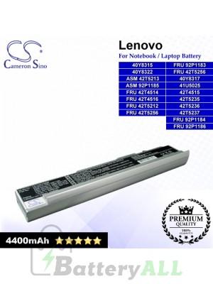 CS-LVN100NB For Lenovo Laptop Battery Model 40Y8315 / 40Y8317 / 40Y8322 / 42T4515 / 42T5235 / 42T5236