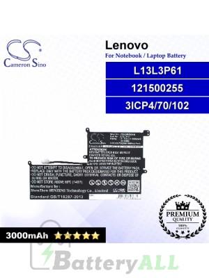 CS-LVN200NB For Lenovo Laptop Battery Model 121500255 / 3ICP4/70/102 / L13L3P61