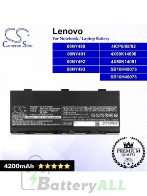 CS-LVP500NB For Lenovo Laptop Battery Model 00NY490 / 00NY491 / 00NY492 / 00NY493 / 4ICP6/58/92