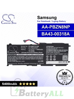 CS-SNP701NB For Samsung Laptop Battery Model AA-PBZN8NP / BA43-00318A