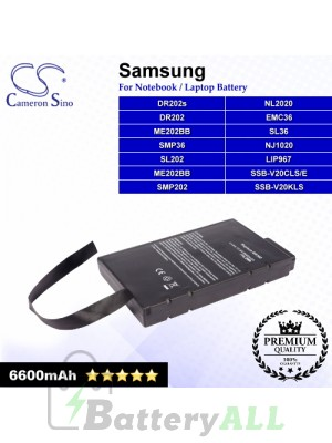 CS-SP500HB For Samsung Laptop Battery Model DR202 / DR202s / EMC36 / LIP967 / ME202BB / NJ1020 / NL2020