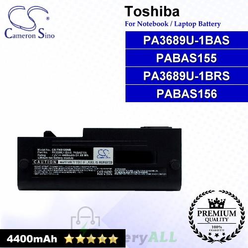 CS-TNB100NB For Toshiba Laptop Battery Model PA3689U-1BAS / PA3689U-1BRS / PABAS155 / PABAS156