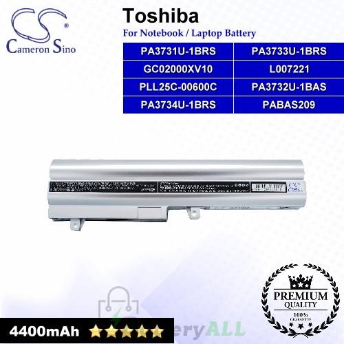 CS-TNB200NB For Toshiba Laptop Battery Model GC02000XV10 / L007221 / PA3731U-1BRS / PA3732U-1BAS (Silver)