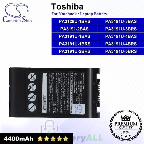CS-TO6000 For Toshiba Laptop Battery Model PA3128U-1BRS / PA3191-2BAS / PA3191U-1BAS / PA3191U-1BRS