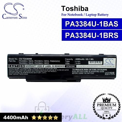CS-TOA60NB For Toshiba Laptop Battery Model PA3384U-1BAS / PA3384U-1BRS