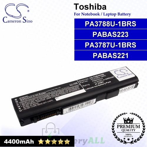 CS-TOB450NB For Toshiba Laptop Battery Model PA3787U-1BRS / PA3788U-1BRS / PABAS221 / PABAS223