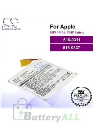 CS-IPNA3SL For Apple Mp3 Mp4 PMP Battery Model 616-0311 / 616-0337