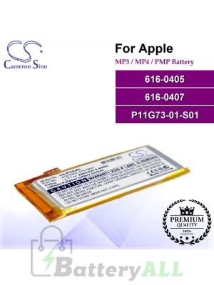 CS-IPNA4SL For Apple Mp3 Mp4 PMP Battery Model 616-0405 / 616-0407 / P11G73-01-S01