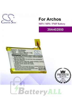 CS-AR284SL For Archos Mp3 Mp4 PMP Battery Model 39A402850