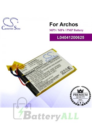 CS-AR438SL For Archos Mp3 Mp4 PMP Battery Model L04041200625