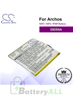 CS-AV405SL For Archos Mp3 Mp4 PMP Battery Model 0805NA