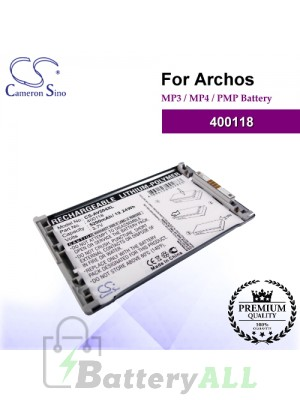 CS-AV504XL For Archos Mp3 Mp4 PMP Battery Model 400118