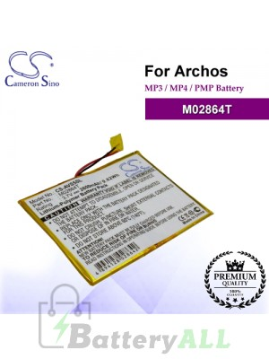 CS-AVS5SL For Archos Mp3 Mp4 PMP Battery Model M02864T