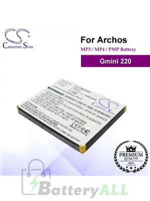 CS-GM220SL For Archos Mp3 Mp4 PMP Battery Fit Model Gmini 220