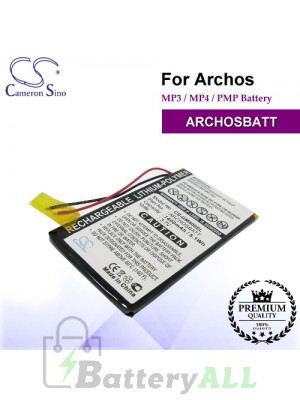 CS-GM400SL For Archos Mp3 Mp4 PMP Battery Model ARCHOSBATT