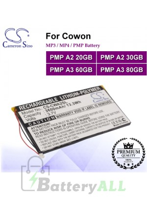 CS-CWA2SL For Cowon Mp3 Mp4 PMP Battery Fit Model PMP A2 20GB / PMP A2 30GB / PMP A3 60GB / PMP A3 80GB