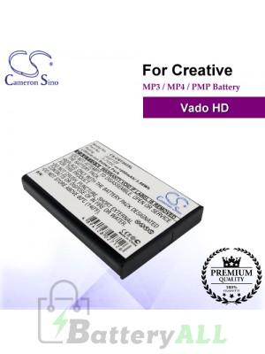 CS-CRT202SL For Creative Mp3 Mp4 PMP Battery Fit Model Vado HD