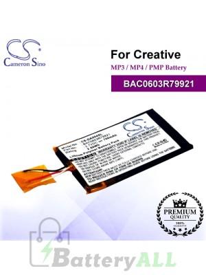 CS-DA004SL For Creative Mp3 Mp4 PMP Battery Model BAC0603R79921