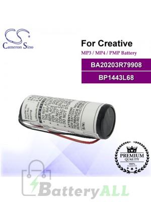 CS-R79908SL For Creative Mp3 Mp4 PMP Battery Model BA20203R79908 / BP1443L68