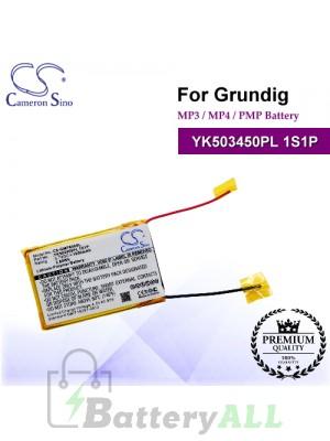 CS-GMP800SL For Grundig Mp3 Mp4 PMP Battery Model YK503450PL 1S1P