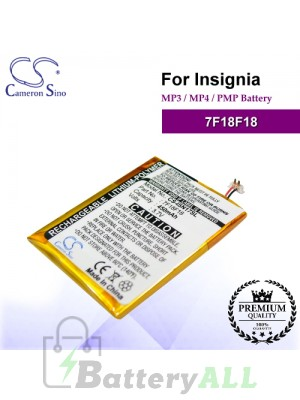 CS-ISN17SL For INSIGNIA Mp3 Mp4 PMP Battery Model 7F18F18