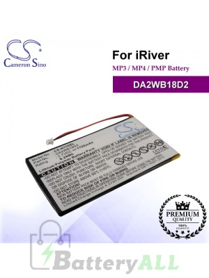CS-H110SL For iRiver Mp3 Mp4 PMP Battery Model DA2WB18D2