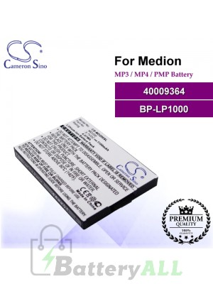 CS-MD200SL For Medion Mp3 Mp4 PMP Battery Model 40009364 / BP-LP1000