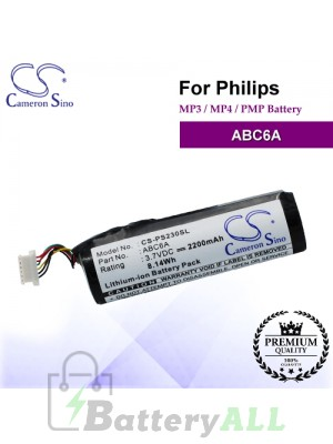 CS-PS230SL For Philips Mp3 Mp4 PMP Battery Model ABC6A