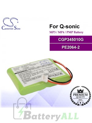 CS-QPE205SL For Q-Sonic Mp3 Mp4 PMP Battery Model CGP345010G / PE2064-2