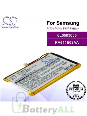 CS-SMT9SL For Samsung Mp3 Mp4 PMP Battery Model 6L0503035 / RA611E02AA