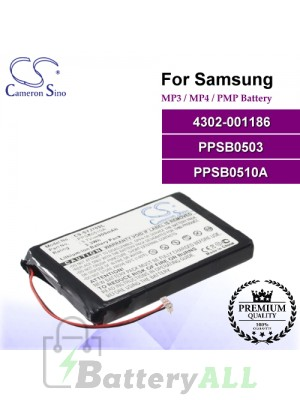 CS-SYJ70SL For Samsung Mp3 Mp4 PMP Battery Model 4302-001186 / PPSB0503 / PPSB0510A